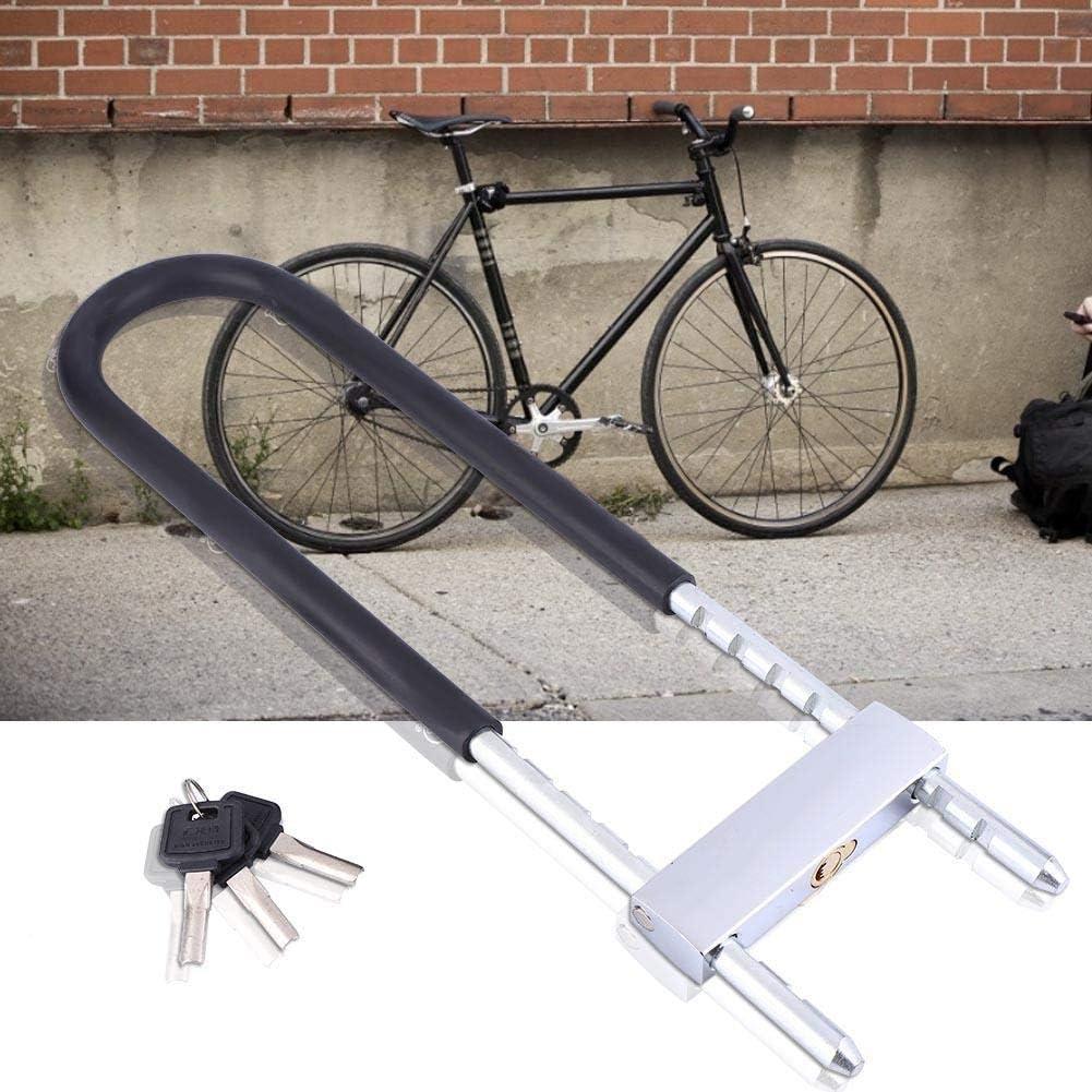 Tbest Candado de Bicicleta U,Candado en U Antirobo Acero Cerradura de Bicicleta U Lock Bloqueo de Bicicleta de Alta Seguridad con 3 Teclas