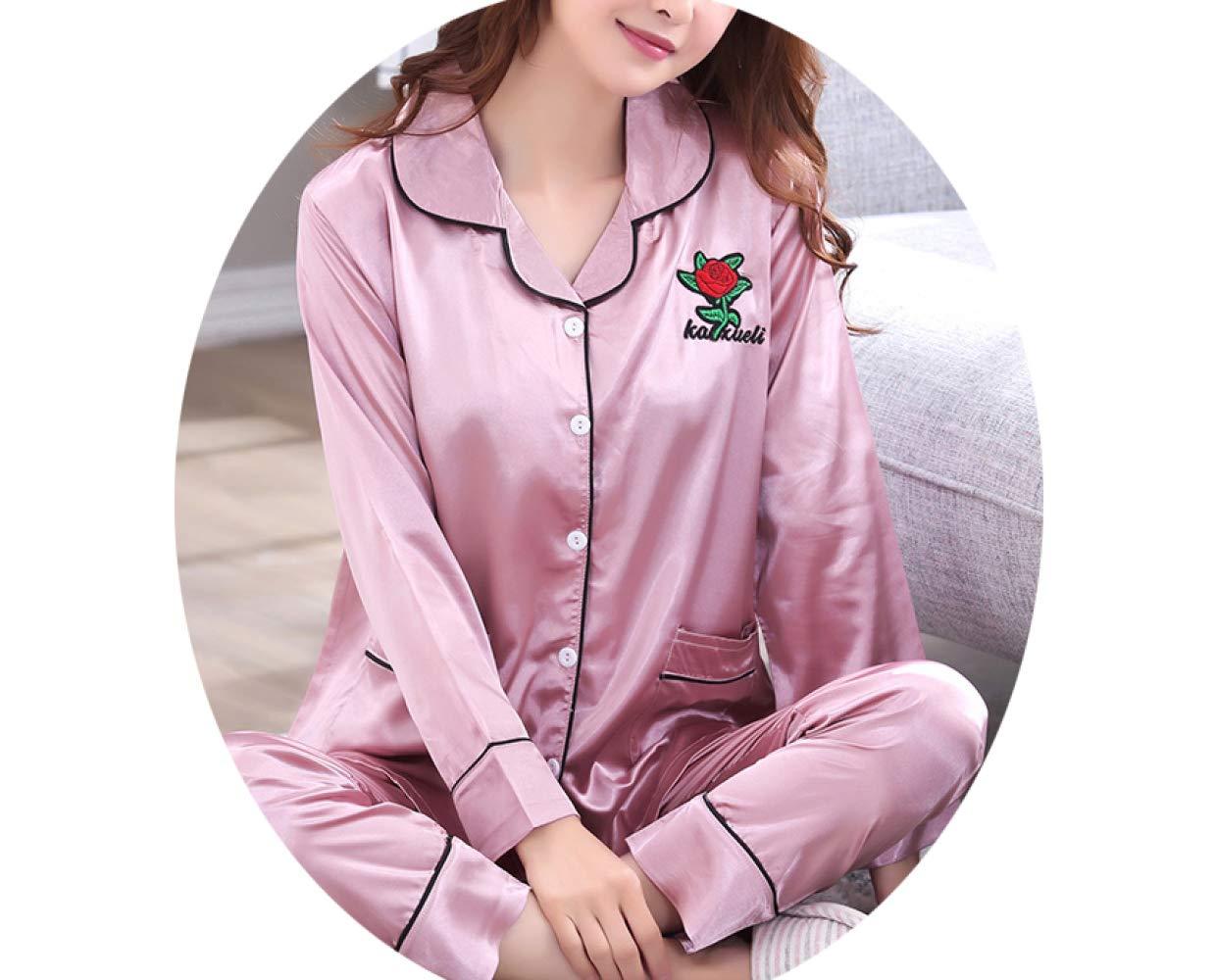 B M Tracksuit Pyjama en Soie à Manches Longues, Costume De Les Les dames en Soie Climatisé à Deux Pièces