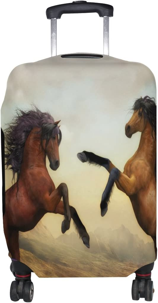 LEISISI Two Horses Luggage Cover Elastic Protector Fits XL 29-32 inch Suitcase