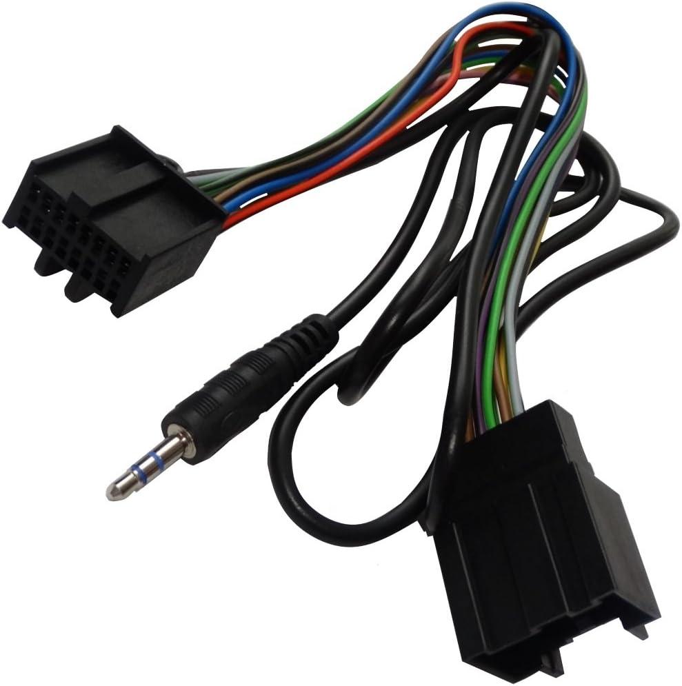 klinke 3,5 mm AUX audio in AERZETIX f/ür auto Adapterkabel C14936