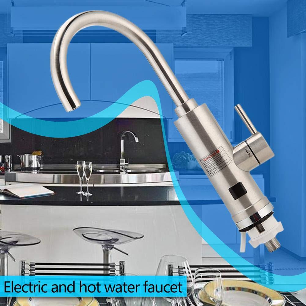 Matefielduk Grifo de Agua Caliente Instant/ánea,Grifo Calentador Instant/áneo 3000W LED Pantalla Digital 220V IPX4 Calentador de Agua 410 * 290 * 60mm