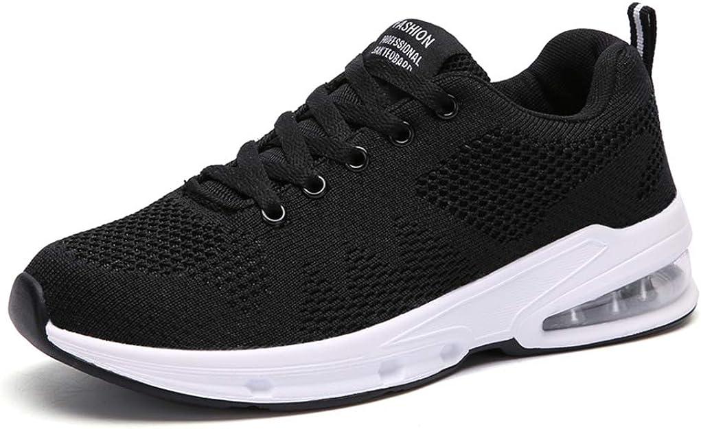 Zapatos Correr Mujer Running Sneakers Air Amortiguación Zapatillas Deporte Gimnasia Transpirables Ligero Aire Libre Negro Rojo Azul 35-42 Negro 40: Amazon.es: Zapatos y complementos