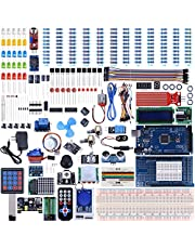KINCREA Mega 2560 Project The Most Complete Ultimate Starter Kit Compatible with ArduinoIDE w/Tutorial, MEGA 2560 R3 Controller Board, LCD 1602, Servo, Stepper Motor (242 Items)