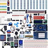UNIROI Arduino Mega2560 UNO Kit with Tutorials, Complete Starter Kit with Flame Sensor, 5V Relay Module, Resistance Card, DC Motor, Motion Detector and More (242 Items) UA003 (Arduino Mega Kit)