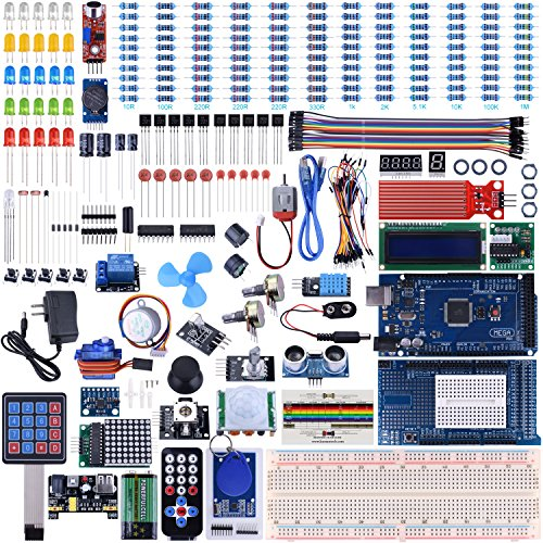 UNIROI Arduino Mega2560 UNO Kit with Tutorials, Complete Starter Kit with Flame Sensor, 5V Relay Module, Resistance Card, DC Motor, Motion Detector and More (242 Items) UA003 - Relay Card Kit