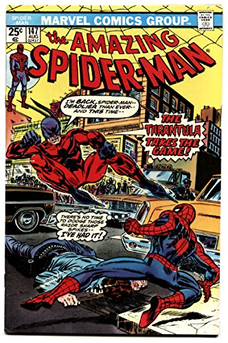 AMAZING SPIDER-MAN #147-comic book COOL CAR COVER VF/NM (Amazing Spiderman 147)