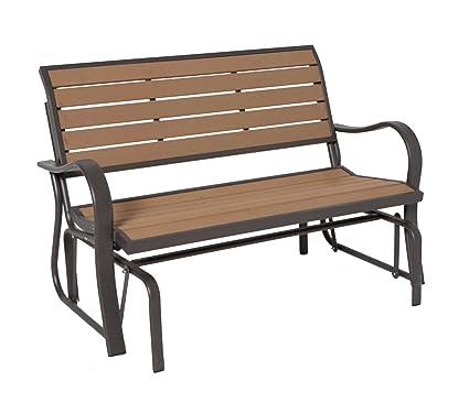 Amazon Com Lifetime 60055 Glider Bench 4 Feet Faux Wood Patio