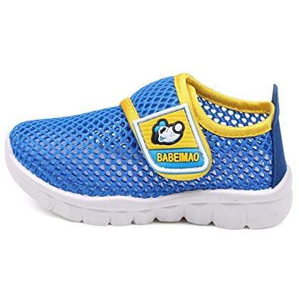 353316cfd702e9 ... DADAWEN Baby s Boy s Girl s Breathable Mesh Running Sneakers Sandals  Water Shoe Blue US Size 5 M ...