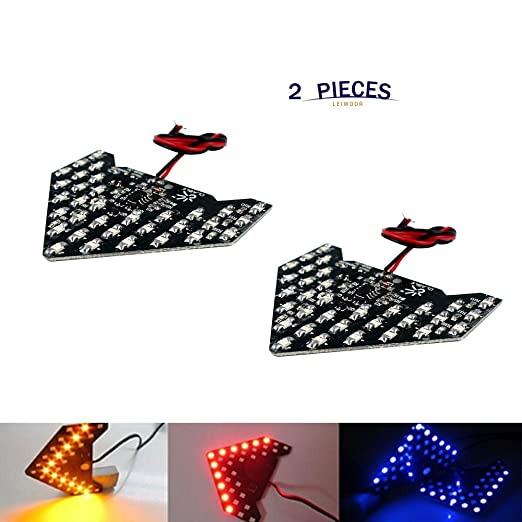 33-smd 12v sequential led arrows panel for car side mirror turn signal light FO