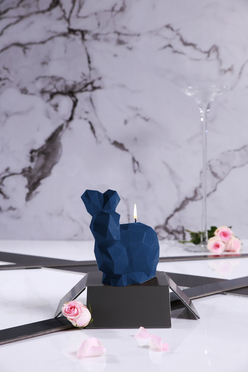 Candellana Candles Candellana- Giant Rabbit Candle-Dark Blue Large