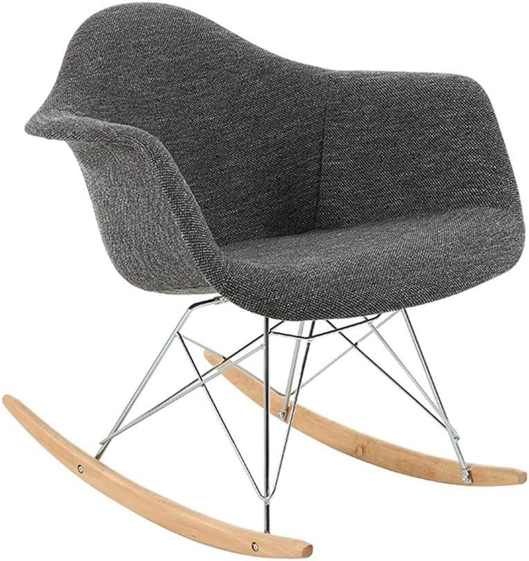 Llyu Simple Rocking Chair Bedroom Balcony Casual Lazy Chair Small Adult Lunch Break Chair Easy Chair Amazon Co Uk Kitchen Home