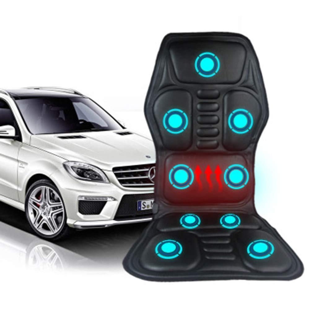 全身バックネックウエスト赤外線療法加熱マッサージ電気バイブレータークッションシート車のホームオフィスマッサージチェアパッド B07RX54MYX