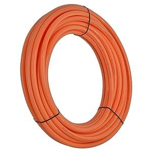 SharkBite Oxygen Barrier PEX Pipe 3/4 Inch, Orange Heat Radiant Barrier Tubing, U870O100, 100 Foot Coil
