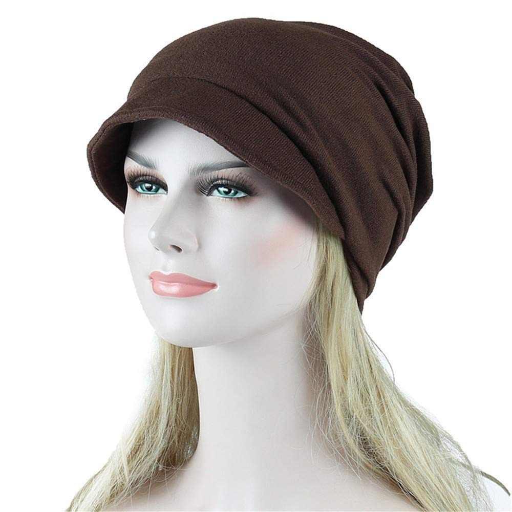 Staron  Womens Hats Solid India Muslim Stretch Turban Hat Hair Loss Head Scarf Wrap