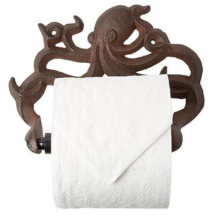 Amazon Com Decorative Cast Iron Octopus Toilet Paper Roll Holder
