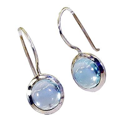 Pear Long Hook Earrings Real Blue Topaz Silver For Women December Birthstone Fashion Jewelry Shape Gift draV37dO
