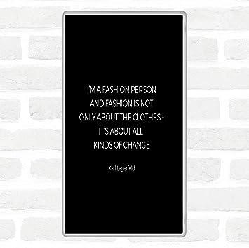 Karl Lagerfield Mode Environ Changent Citation Xl Plaque