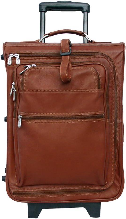 Piel Leather 19 Inch Multi-Pocket Wheeler, Saddle, One Size