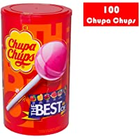 Halloween Chupa Chups Caramelo con Palo de Sabores Variados - Tubo 100 unidades de 12 gr/ud
