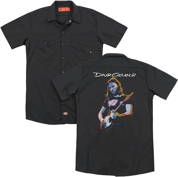 Trevco David Gilmour Gilmour (Guitarra) Atrás Imprimir Trabajo Mens Camisa Negra (X-Large): Amazon.es: Ropa y accesorios
