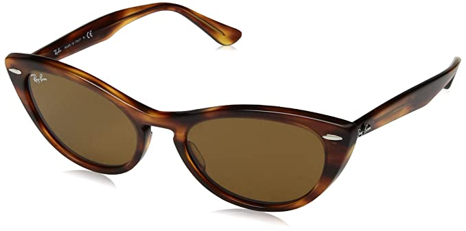 Ray-Ban 0RB4314N Gafas de sol, Striped Brown, 53 para Mujer