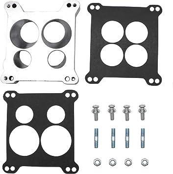 Square Bore Carburetor to Spread Bore Quadrajet Intake Manifold Adapter Plate
