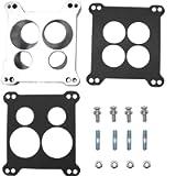 KIPA Carburetor Adapter Manifold 2696 Four-Hole Square-Bore to Spread-Bore Replace for Edelbrock Quadrajet Thermo-Quad…