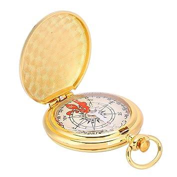 Tbest Brújula de Latón, Reloj de Bolsillo Brújula Portátil ...