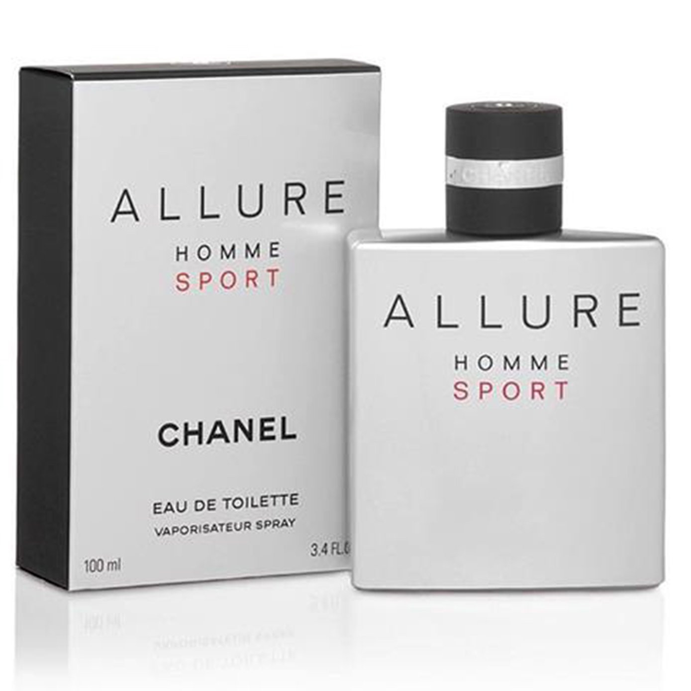 Chânêl Allure Homme Sport Eau De Toilette Spray for man, EDT 3.4 Ounce, 100 ML