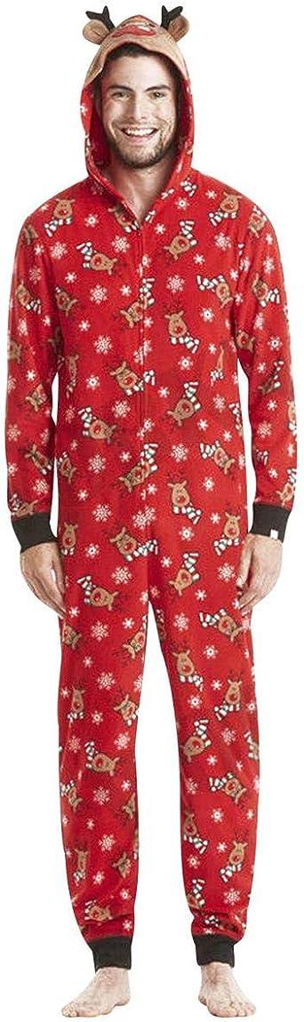 Tasty Life Familia De Pijamas Navideños, Mono De Una Pieza Pijamas Navideños para Damas Pijamas Navideños para Hombres, Pijamas Navideños con Capucha ...