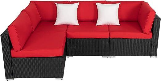 Amazon.com: Kinsunny - Juego de 4 muebles de exterior de ...