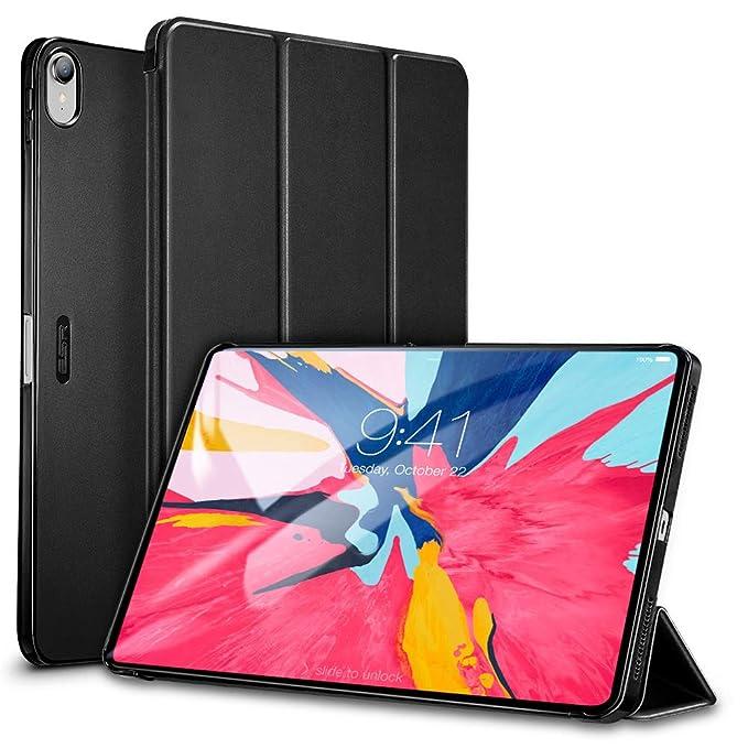 ESR Funda para iPad Pro 12.9 2018 Silicona [Auto-Desbloquear] Función de Soporte [No Compatible con Carga de Apple Pencil] Smart Cover Ligera ...