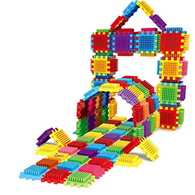 Dimple DC5190 54Piece Interconnecting Stacking Blocks Building Set for Boys & Girls, Educational Fun, Great for Toddlers & Children Toy: Toys & Games