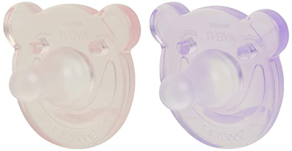 0-3 Months Green//Blue 4 Pack Philips AVENT Soothie Pacifier SCF194//41 Bear Shape