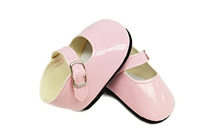 a9dd0a3805b1 Image Unavailable. Image not available for. Color: My Brittany's Pink  Patent Mary Janes for Wellie Wisher Dolls