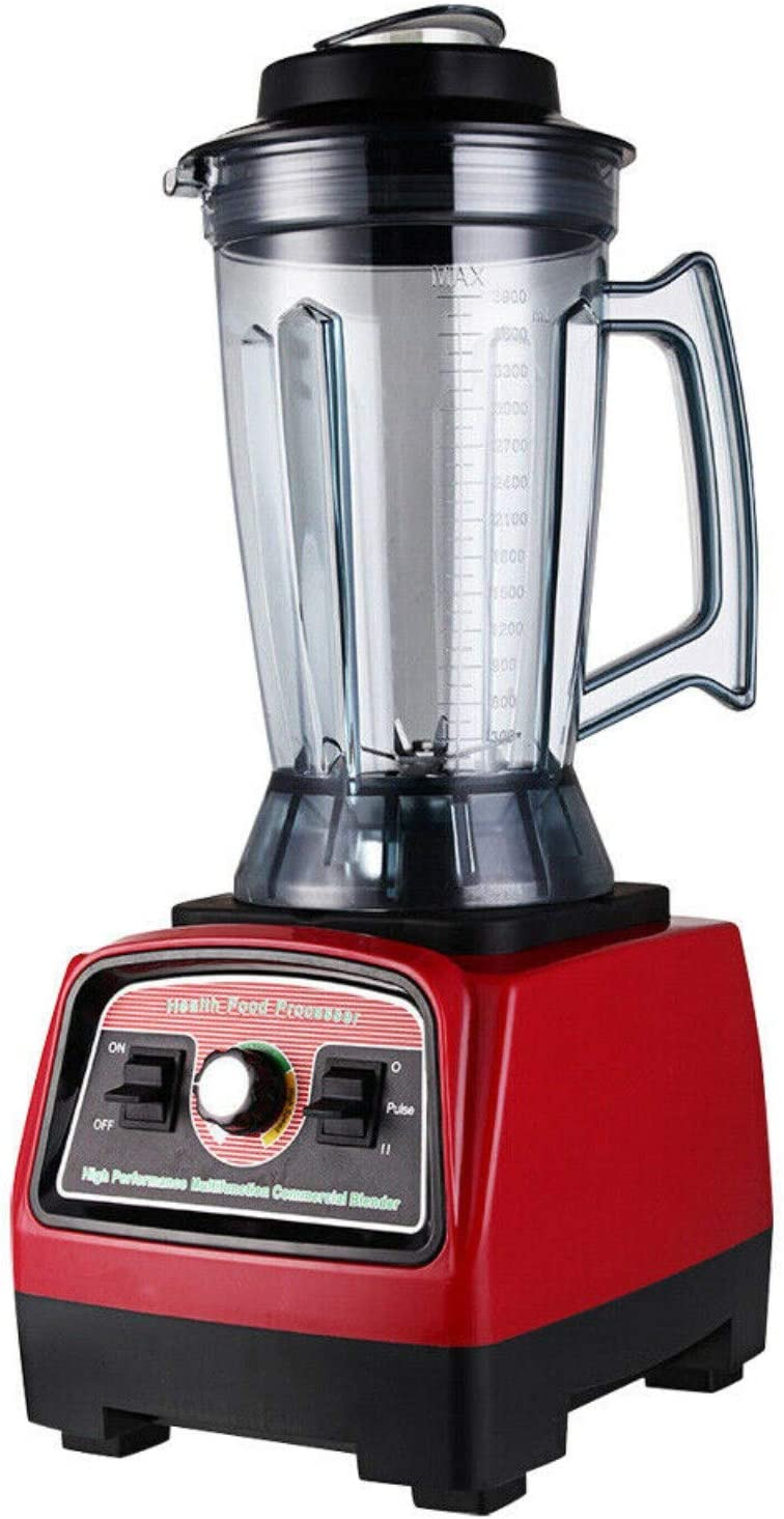 RanBB Food Processor Mixer Blender, 3.9L 2800W Commercial High Speed Blender Juicer Food Smooth Ice Cream Maker