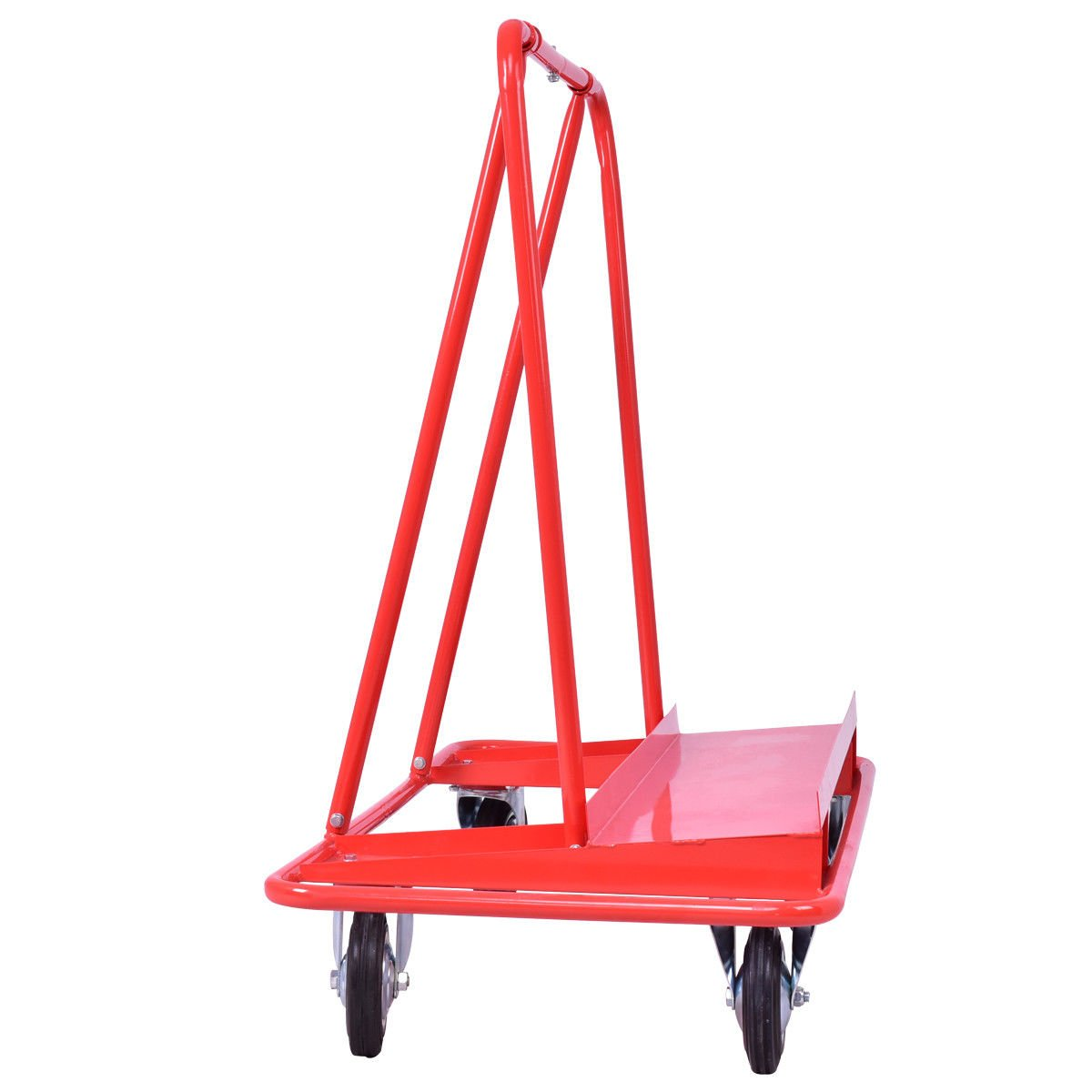 Red 47.3 Steel Drywall Cart Dolly w// 770 Lbs Capacity with Ebook