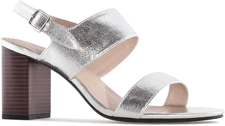 small silver heels uk