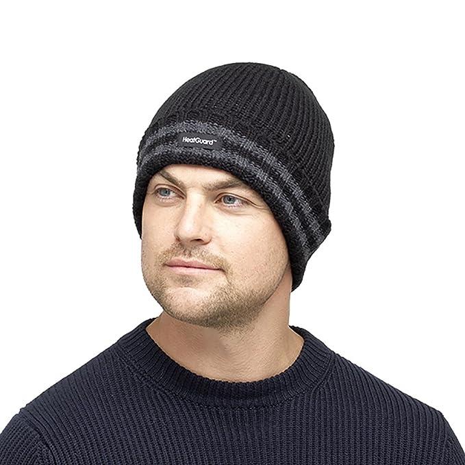 Men/'s Heatguard Thinsulate Beanie Hat 2 Colours One Size