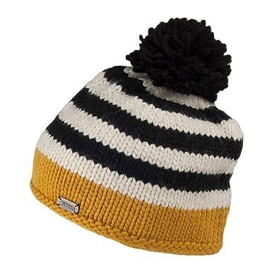6291031b3fabed Kusan Hats Moss Yarn Bobble Hat - Yellow 1-Size: Amazon.co.uk: Clothing