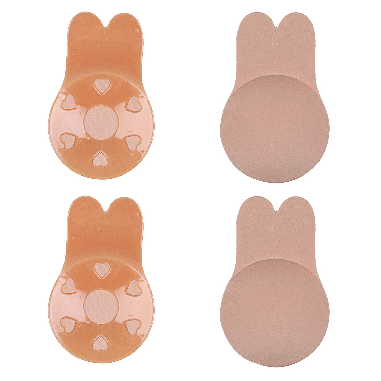 A-DD Cup 2 Pairs Lift up Invisible Bra Stick on Bra Adhesive Nipplecovers for Backless Dress