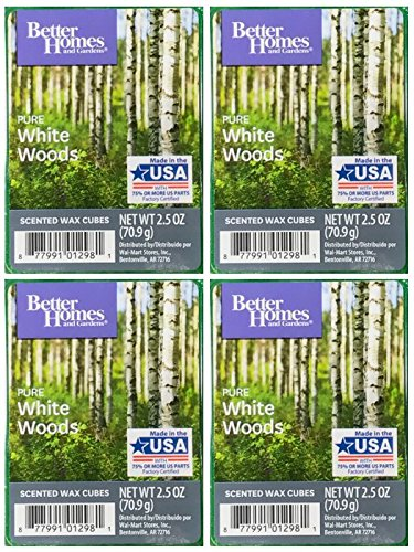 Amazon.com: Better Homes and Gardens Pure White Woods Wax Cubes - 4 ...