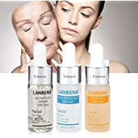 Hyaluronic Six Peptides 24K Gold Serum Anti-Aging + Hyaluronic Acid and Snail Secrets Filtered Moisturizing + Vitamin C…