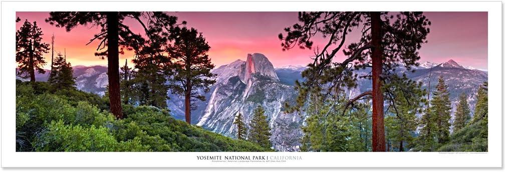 Vista Point Studio Gallery Award Winning Landscape Panoramic Art Print Poster: Yosemite National Park (Sunset)