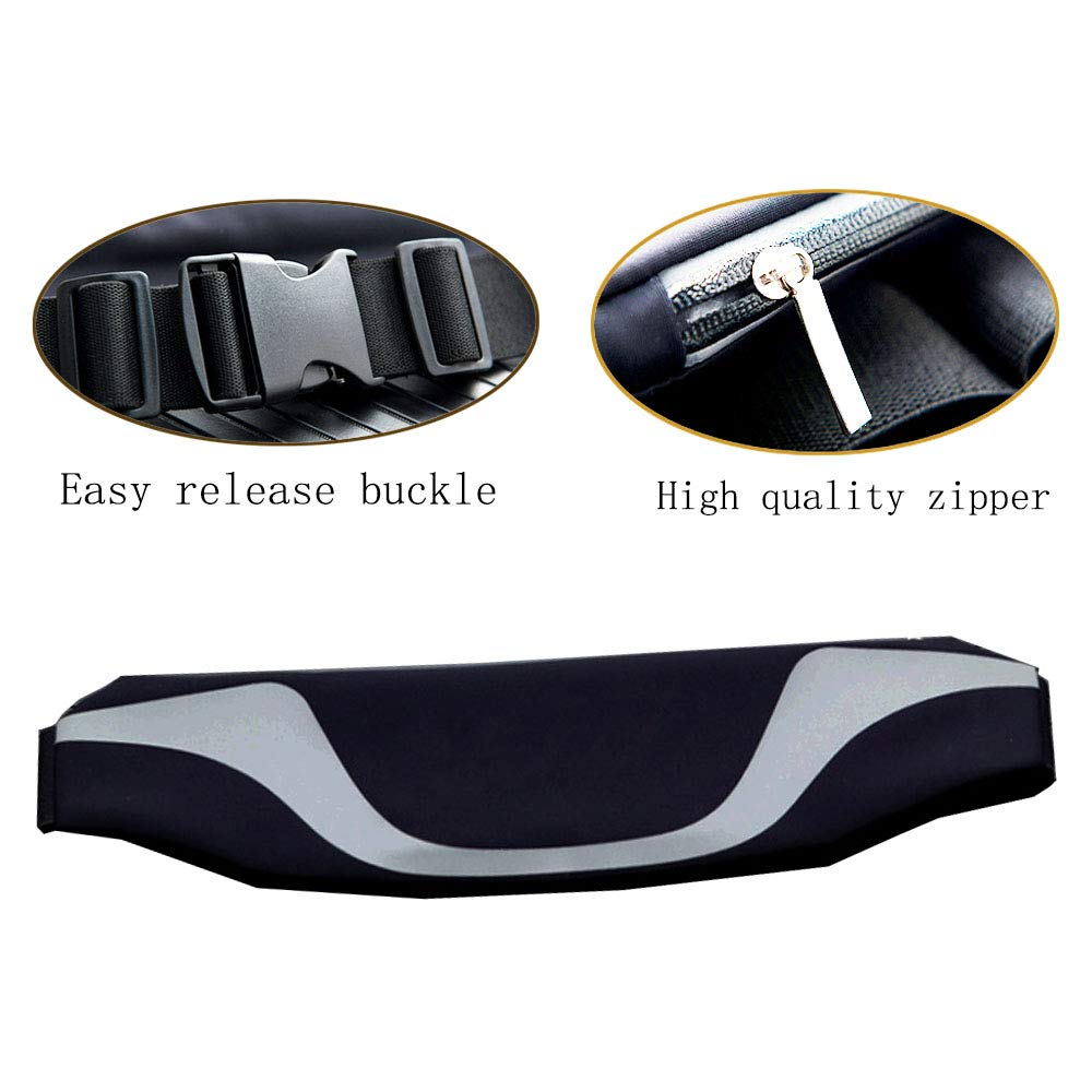 Compatible with iPhone 3.5//6//7 inches for Men and Women Compatible with iPhone 3.5//6//7 inches for Men and Women BOEN Running Belt Waist Pack Adjustable Zippered Reflective with Headphone Port Green One Size