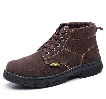 XBXZ Zapatos de Seguridad Botas de Trabajo para Hombre, Botas de Seguridad para Hombre,