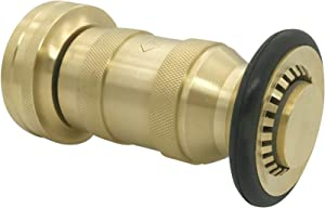 """Happy Tree Fire Hose Nozzle 100 psi 1-1/2"""" NST/NH 85 gpm Brass Fire Equipment Heavy Duty Industrial Jet Fog Spray Nozzle FHSN05B"""