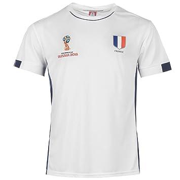 23d0e2352b3 FIFA World Cup 2018 France T-Shirt Mens White Football Soccer Tee Shirt  Small