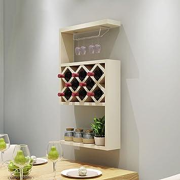 Weinregal ZCJB Weinschrank Moderne Weinkühler Wand-montiert ...
