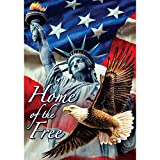 Home of the Free – Standard Size, Decorative Double Sided, Licensed and Copyrighted Flag – MADE IN USA by Custom Decor Inc. 28 Inch X 40 Inch approx. For Sale